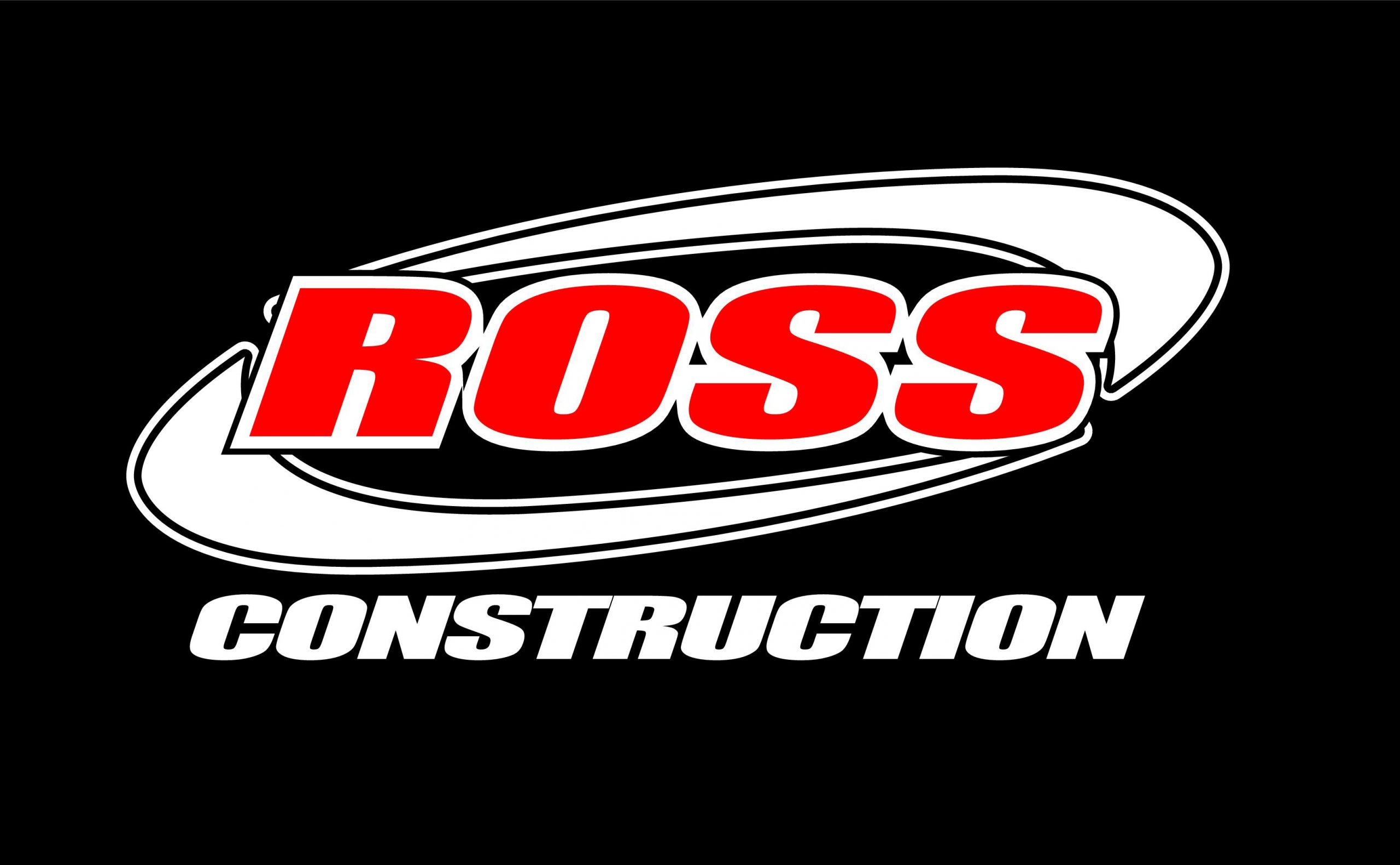Ross Construction logo black